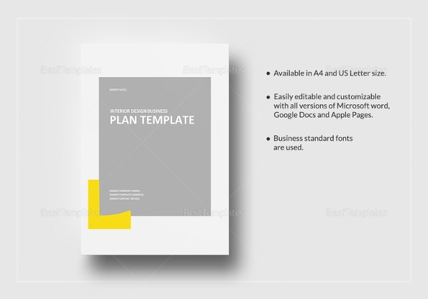 Interior design business plan template 10 free word excel pdf interior design business plan template in google docs accmission Gallery