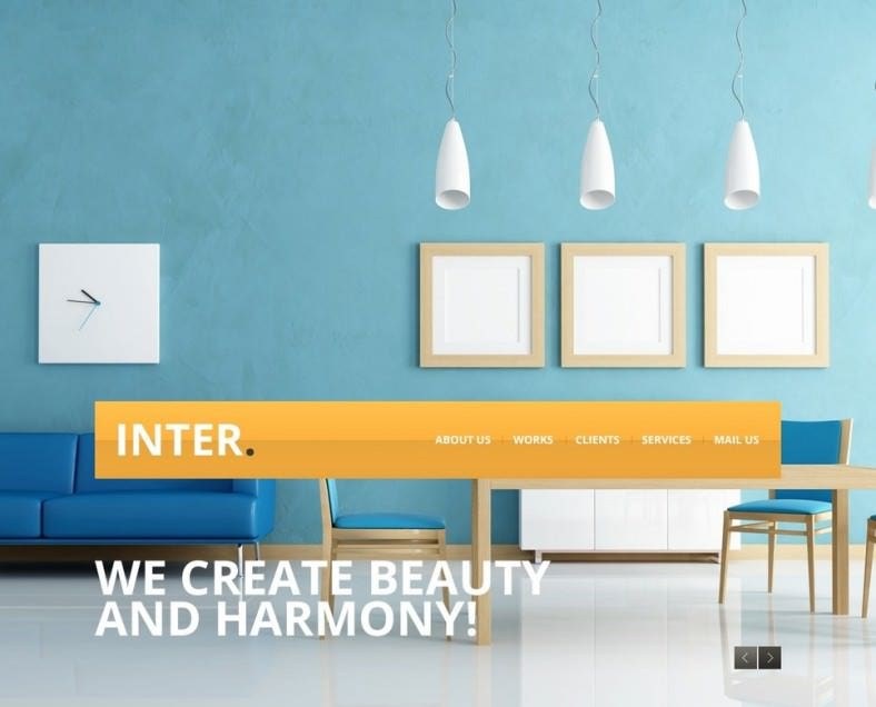 23 interior design website themes templates free for Interior design layout templates