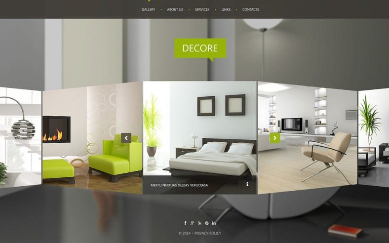 Interior design website templates themes free for Interior design sites