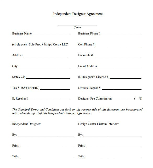 6 interior designer contract templates free word pdf for Interior design client contract