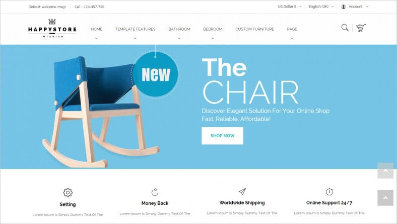 Interior & Furniture Store Joomla Template