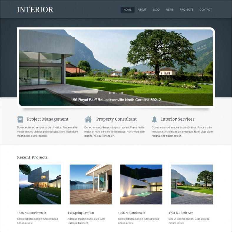 Modern Exterior Interior Design WordPress Theme 49 Free Demo Download