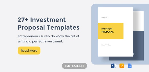27+ Investment Proposal Templates - Word, PDF, Apple Pages