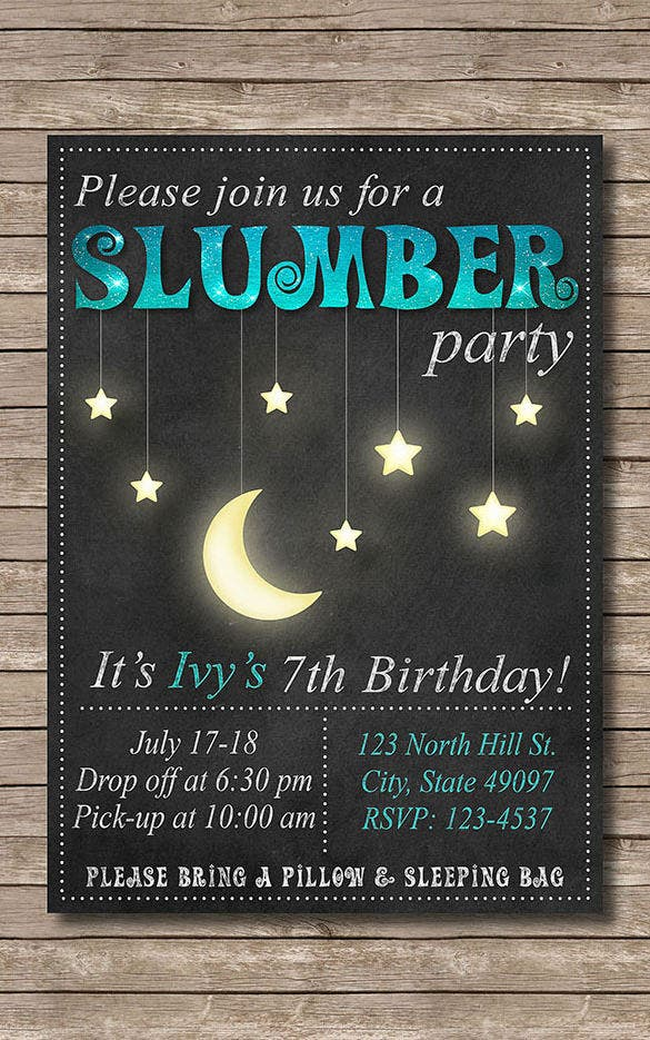 13+ Creative Slumber Party Invitation Templates & Designs! | Free ...