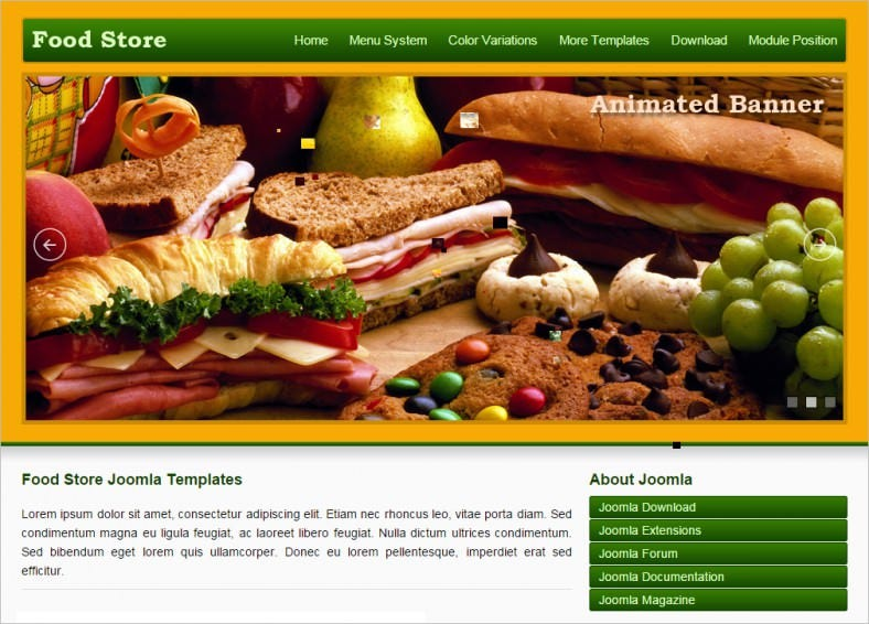 jsr food store joomla template 788x566
