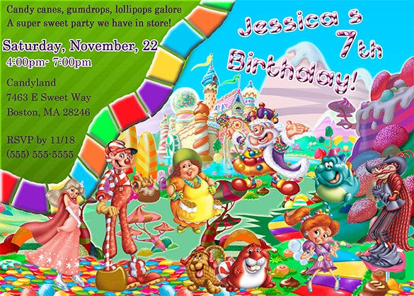jessicas candyland invitation template