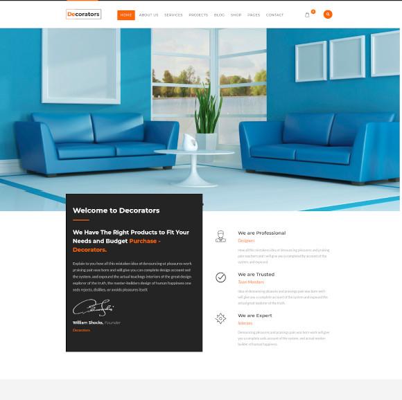 joomla template for architecture modern interior design studio