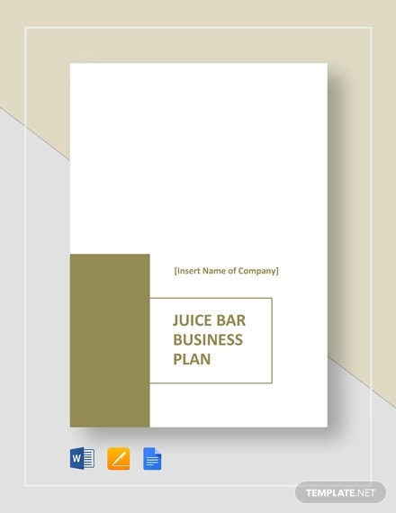 juice bar business plan template2