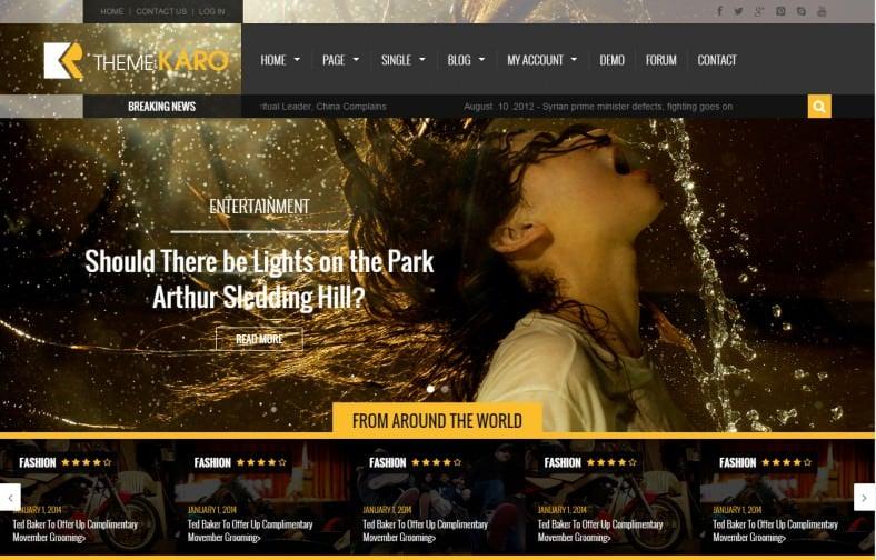 Karo Magazine HTML5+CSS3 Template