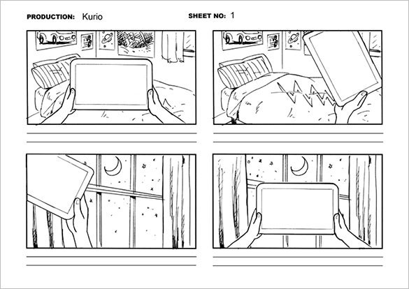 kids bed storyboard template free printable