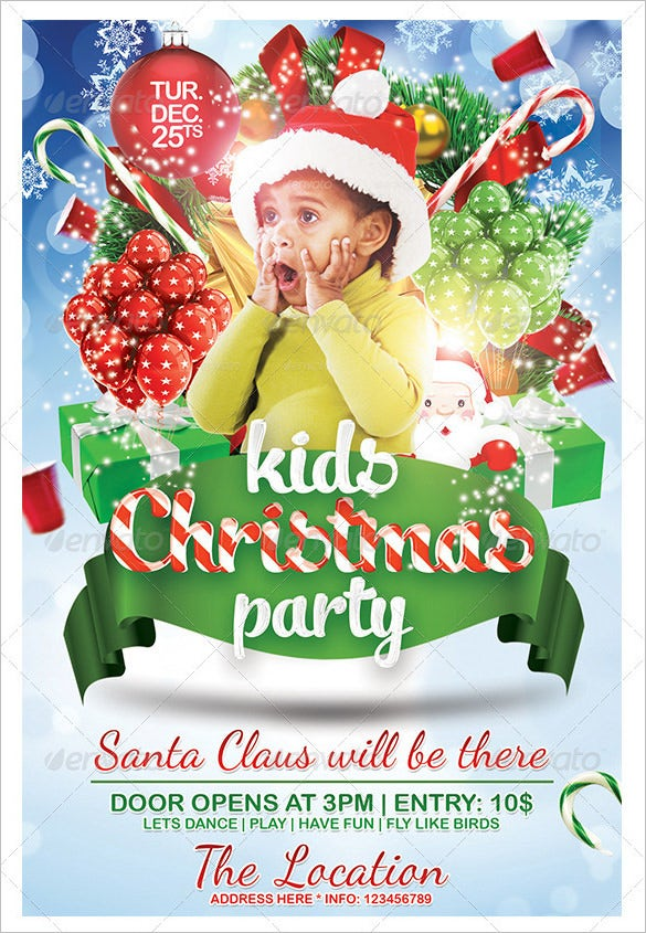 Christmas Birthday Party Invitation Templates Merry Christmas And