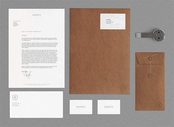kraft paper business envelope template