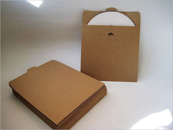 kraft paper cd or dvd cover template