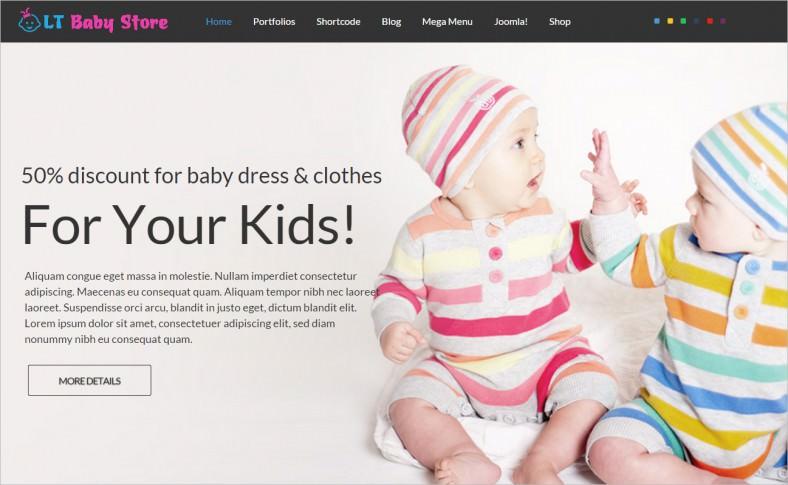 lt baby shop responsive baby store baby shop joomla template 788x485