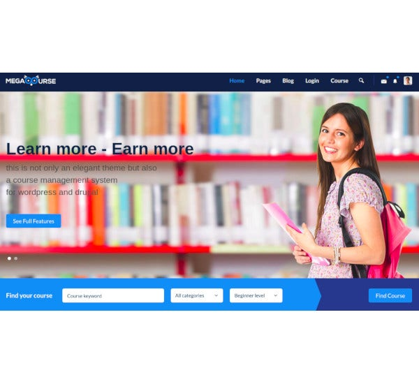 learning courses html5 template