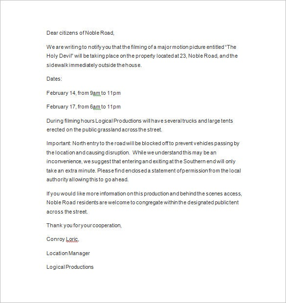 Notice Letter – 15+ Free Samples, Examples, Format Download! | Free ...