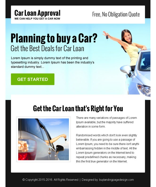 Loan And Mortgage Ppv Landing Page Design Preview