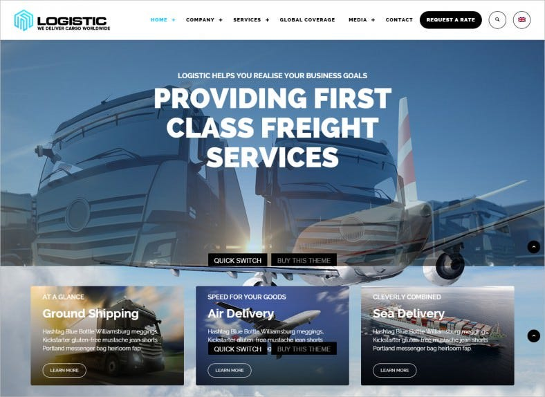 Transportation WordPress Templates & Themes | Free & Premium | Free ...