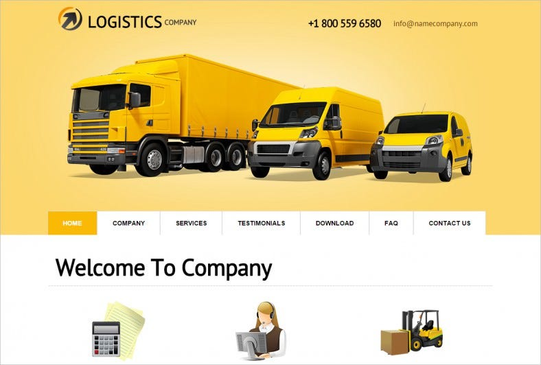 logistics company wordpress theme1 788x532