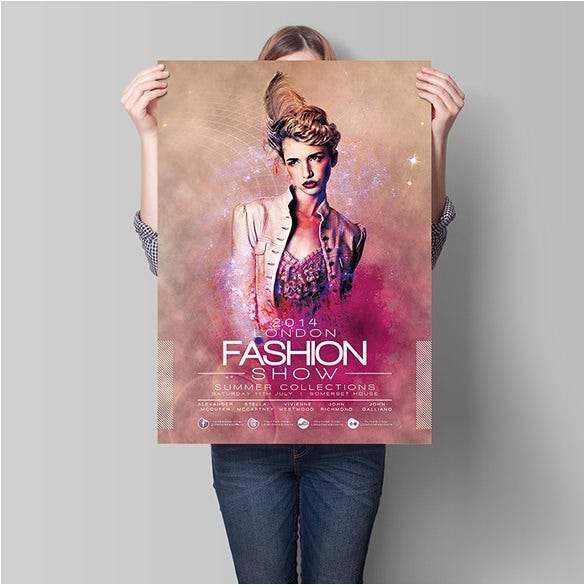 london fashion flyer template