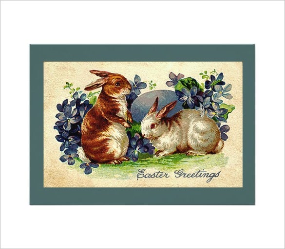 lovable bunnies easter invitation