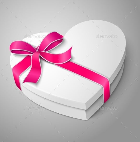 love heart box template