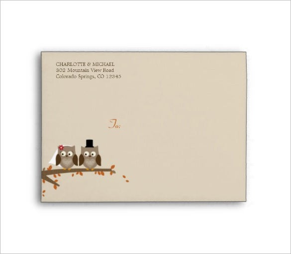 Wedding Card Envelope Templates 21 Free Printable Word PDF – Sample A7 Envelope Template