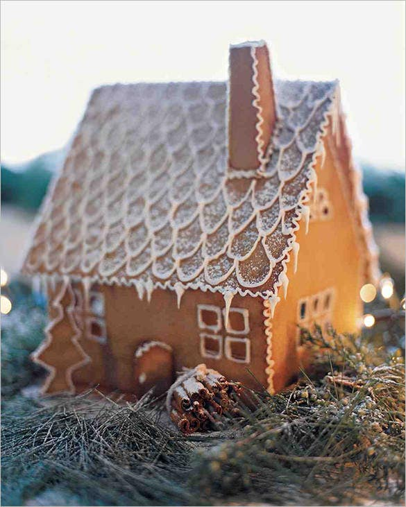 martha stewart gingerbread house recipe template