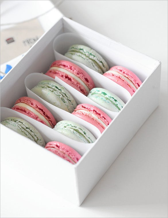 macaron box template free download