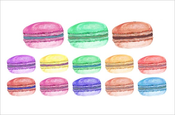 macaron template premium download