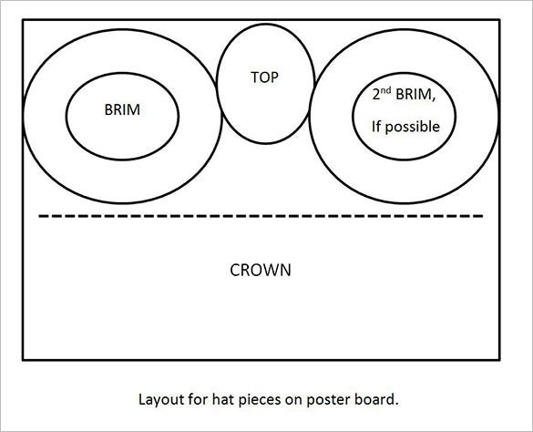 photo about Mad Hatter Hat Template Printable referred to as 7+ Paper Hat Templates Styles Absolutely free Quality Templates
