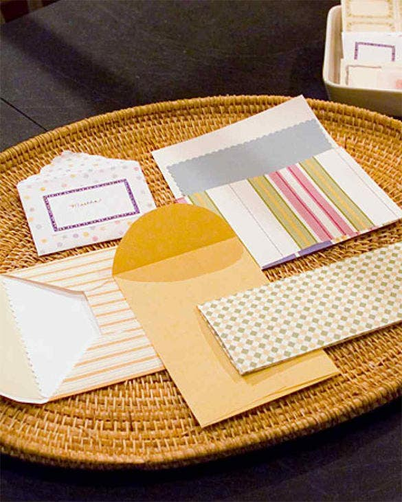 make custom envelope by martha stewart