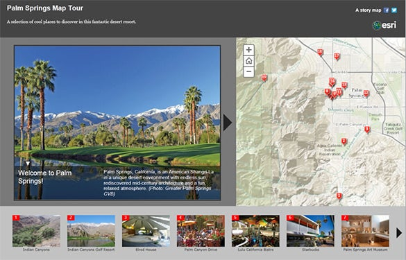 make a map tour story map esri