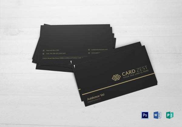 marketing director business card