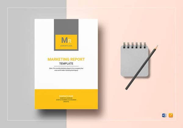 marketing report template to edit