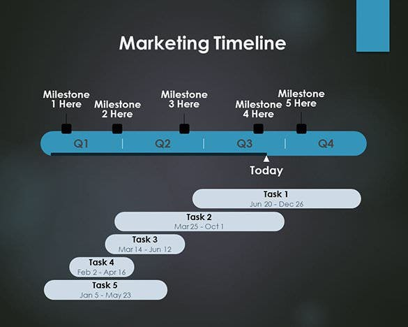 Timeline Template Free Word Excel PDF PPT PSD Format - Business plan powerpoint template free