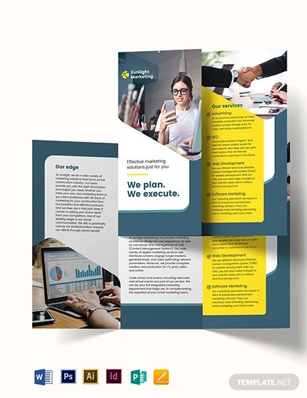 marketing tri fold brochure template