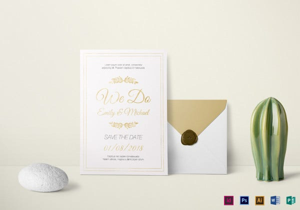 marriage invitation illustrator template2
