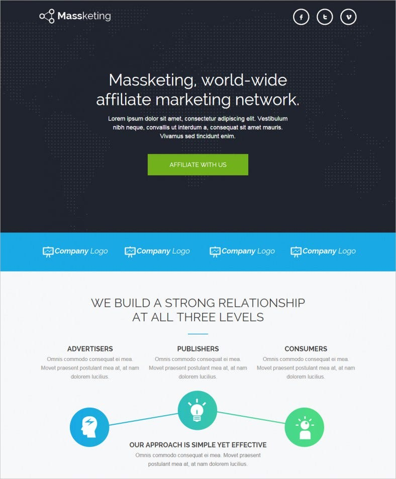 massketing unbounce landing page template 788x954