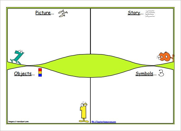 Maths Storyboard Template for Childrens