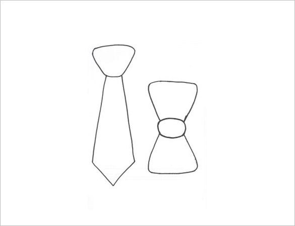 mens bow tie template free download