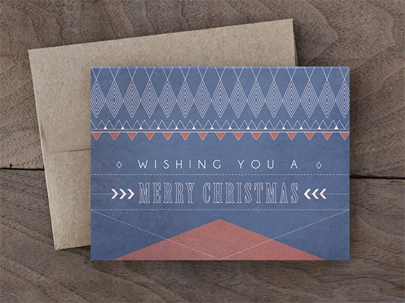 merry christmas a2 envelope card template