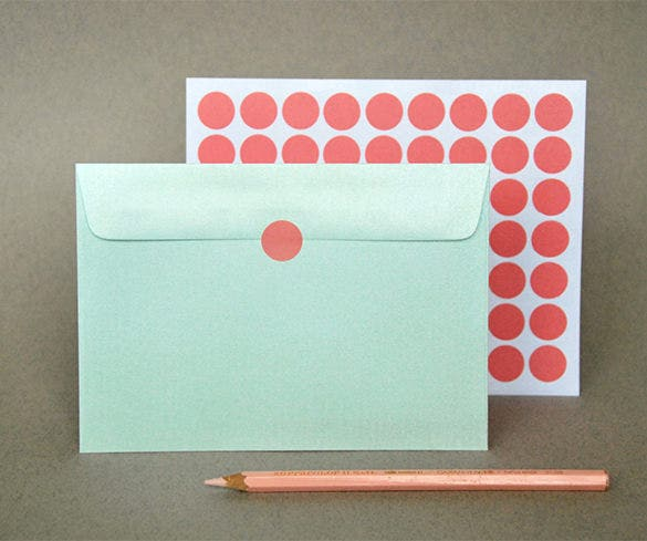 metallic mint 4x6 envelope 16