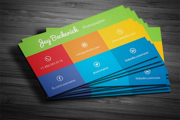 Visiting Card Template   Free Printable Word Pdf Psd Eps