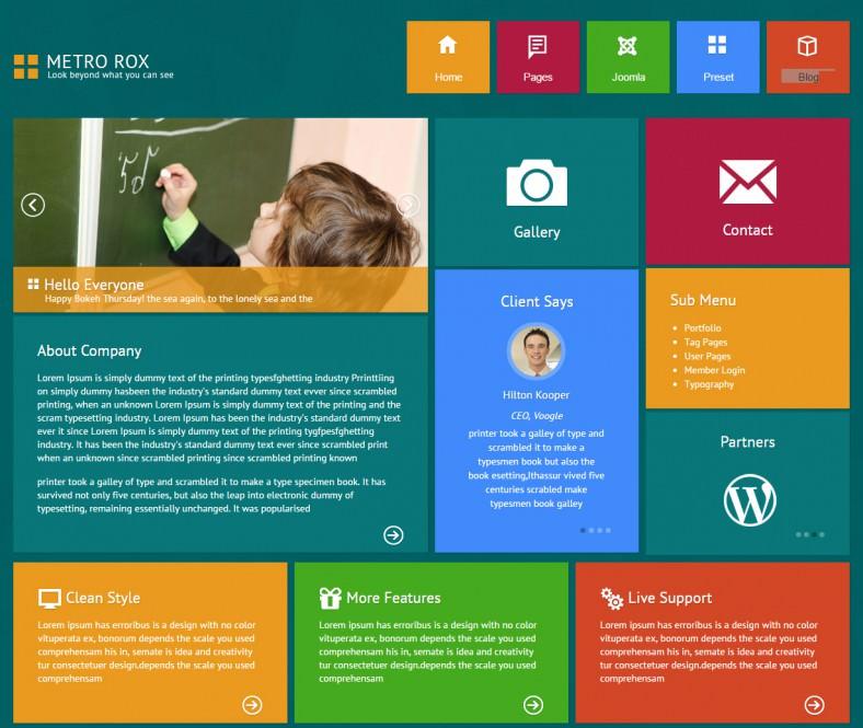 Metro Style Joomla Templates & Themes | Free & Premium | Free ...