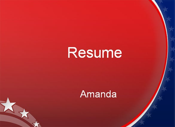 microsoft powerpoint resume template free download