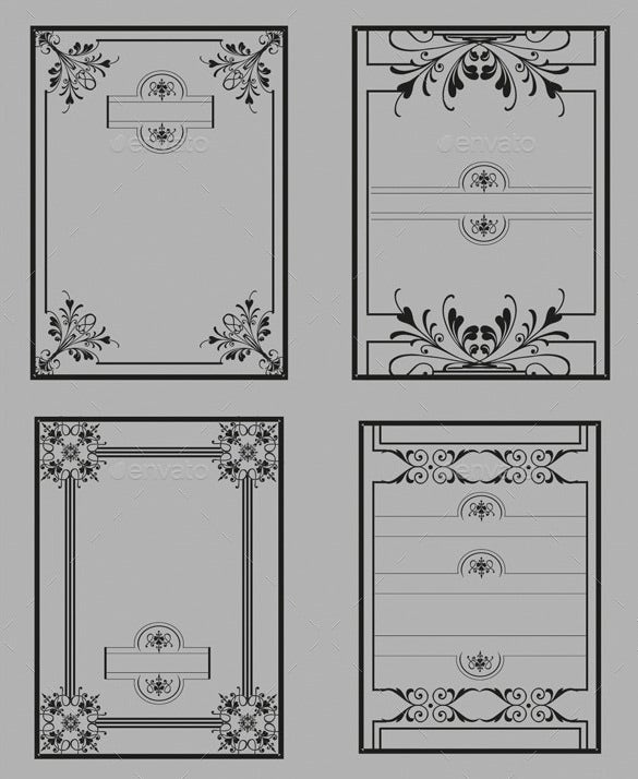 Mix Border Template Illustrator U2013 $6  Paper Border Designs Templates