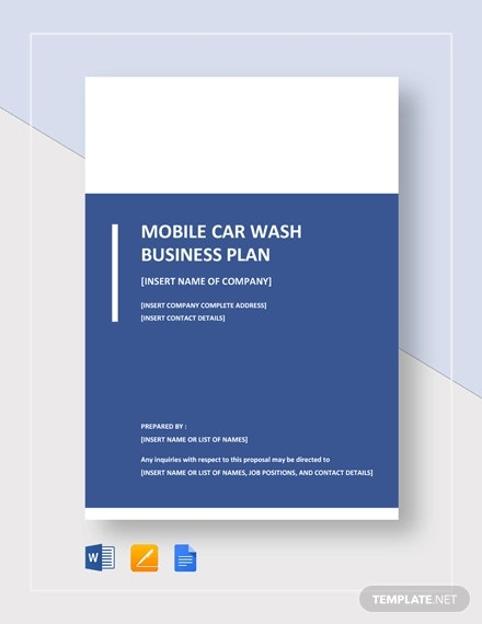 mobile car wash business plan template