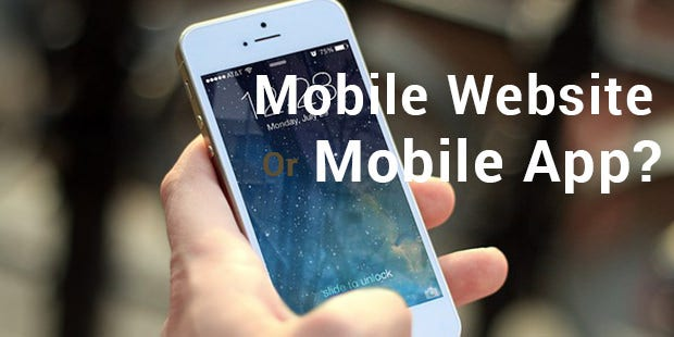 mobile website or app