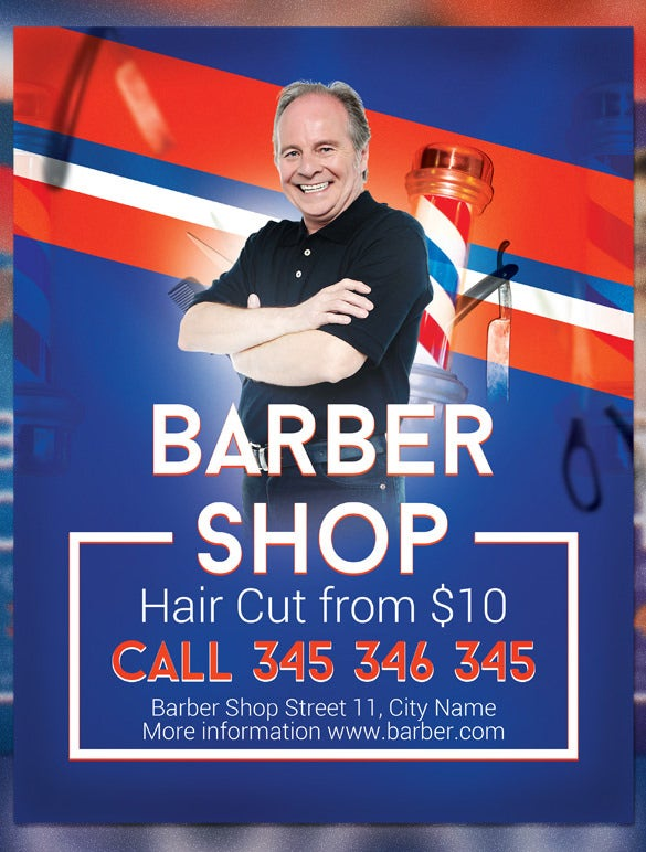 modern barber shop flyer